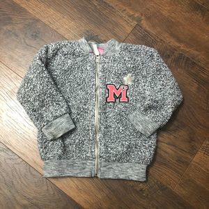 3/$20 Disney Minney Mouse Zip Up Coat 18M Grey